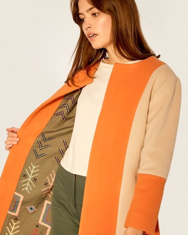 Our wool coats 🍂🧡 Made from leftover fabric and organic cotton lining - with our own print, designed together with amazing illustrator @mariaprietobarea ✨ Photography: @lisa___winter  H&M: @mua.stefanie.schneider  Model: @maloualea . . #coats #mantel #coat #wool #leftover #fabric #print #fashion #fashionista #ootd #fashionphotography  #fotoshooting #blogger #design #trousers #pants #hose #organic #nachhaltig #fashionrevolution #greenstyle #greenfashion #fairfashion #fall #mood #style #outfit #fashionlover