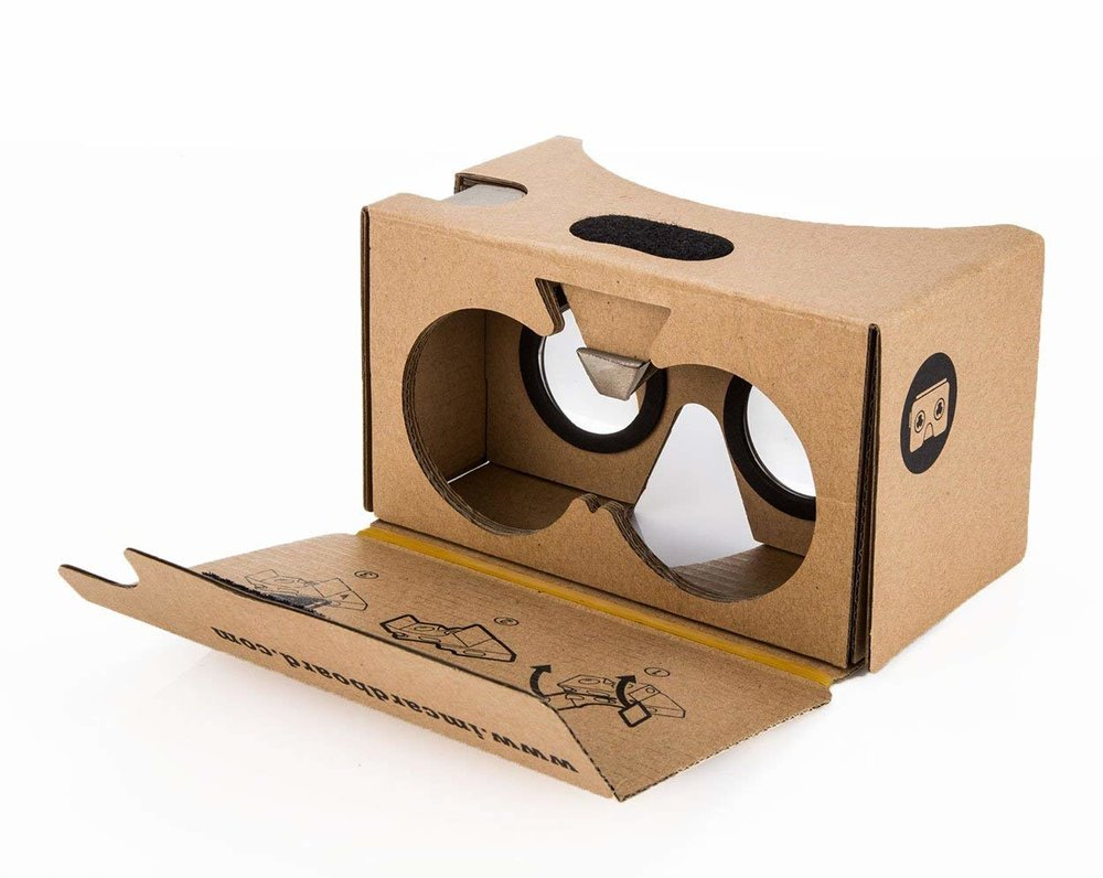 "Google ""Cardboard"" viewers offer cheap alternatives to pricy headsets."