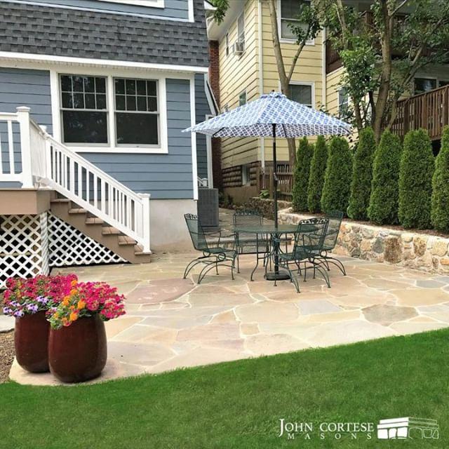 Prep your patio for spring with John Cortese Mason Contractors! ⠀⠀⠀⠀⠀⠀⠀⠀⠀ #masonry #stonework #johncortesemason #cortesemasons #cortesemasonry #northjersey #newjersey #custom #handcrafted #design #trending #smallbusiness #smallbiz #experience #stone #stonework #home #backyardgoals #qualitystonework #homeimprovement #patio #patiogoals #patiodesign #backyardpatio #backyarddesign