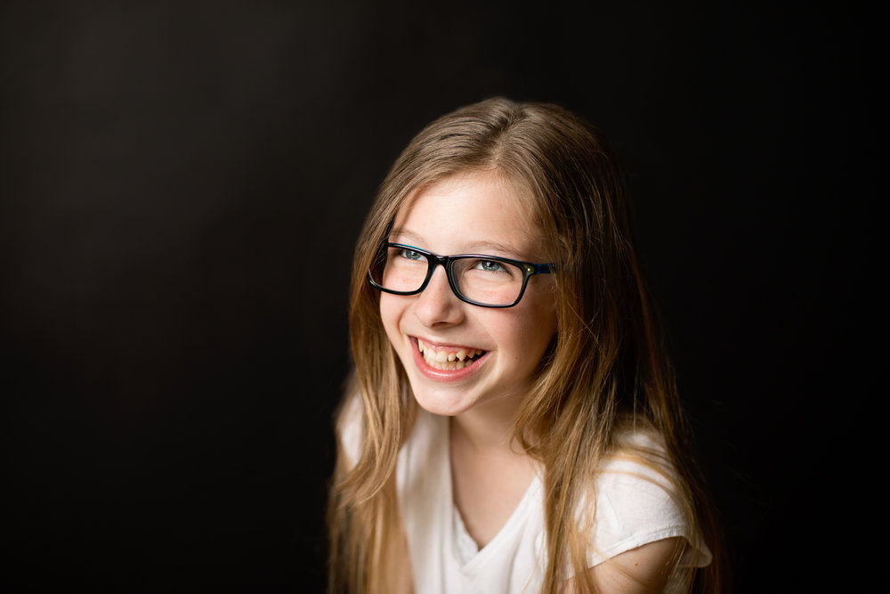 School portrait of tween girl Erin Wood Photography Central CT school photographer