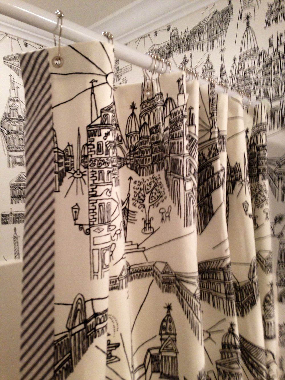 Custom shower curtain for Betsy Anderson Interiors