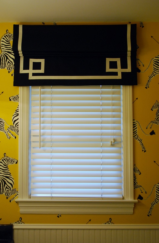 Faux Roman with Greek key trim