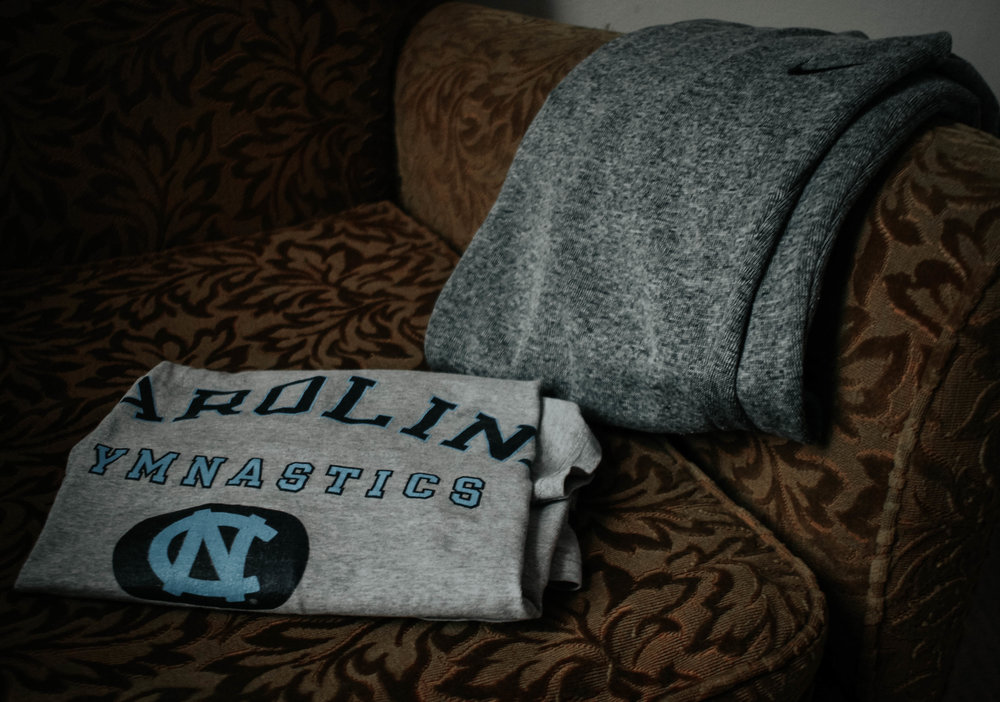 My pajamas/cozy groutfit. I have had this oversized UNC shirt since I was 12!!! It was a fave long before they became one of my ACC rivals.