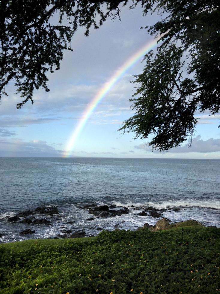 morning rainbow from lanai