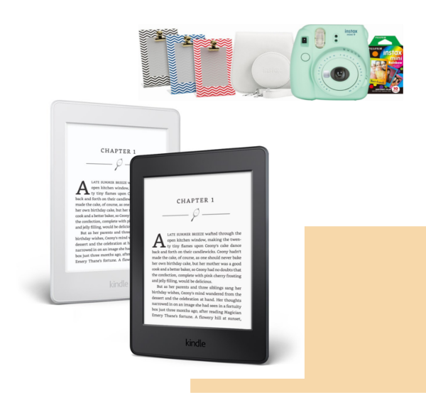 FujiFilm Instax Mini Bundle  $75 (orig $110)  Amazon Kindle Paperwhite eReader  $90 (orig $120)