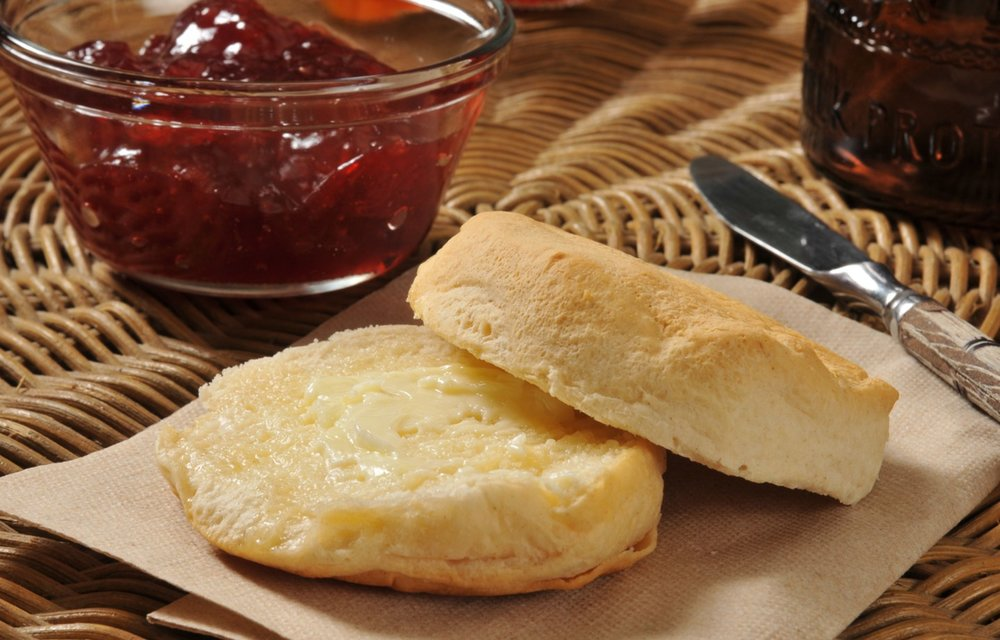 Blissful Breakfasts! - Homemade bread couldn't be easier! These biscuits don't require any yeast or proofing time…they don't even need an oven as they get cooked on a griddle or in a pan! A perfect and classic dish for the early Colonists!