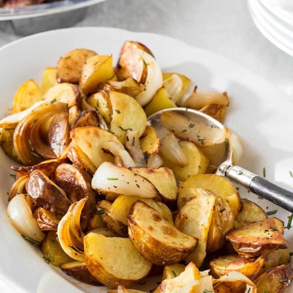 Amazing Appetizers! - This simple recipe delivers a side dish with massive flavor. The combo of garlic, crispy onions and golden crunchy potatoes will complement any meat, chicken, fish or vegetarian entrée!