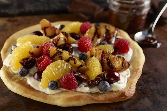 Delightful Desserts! - It doesn't get better than this for a fresh fruit dessert or breakfast/brunch dish if using regular dough. Grilling fruit is a fantastic way of bringing out natural sweetness and adding another dimension of flavor to the dish. Enjoy