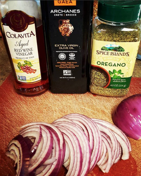 Ingredients for Marinated Red Onions recipe photo
