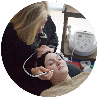 A Diamond Microdermabrasion session at Grand Rapids Natural Health (photo).