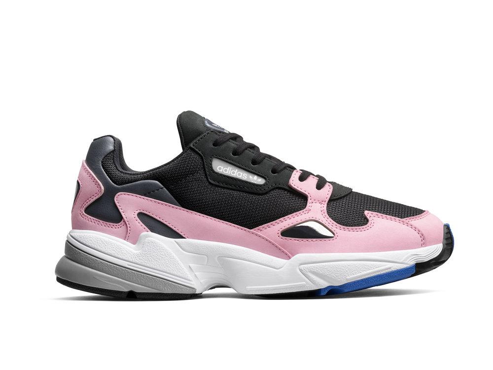 adidas Originals Falcon   Core Black & Light Pink