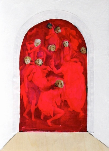 """No Interest in Backs of Heads    7"""" x 5"""" 