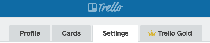 Settings-Trello