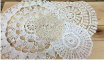 ASSORTED DOILIES        QUANTITY: 15 RENT: $1 EACH
