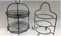 WIRE DESSERT STANDS  QUANTITY: 2 RENT: $5 EACH