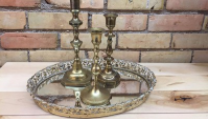 BRASS CANDLESTICKS              QUANTITY: 65                         RENT: $1 EACH