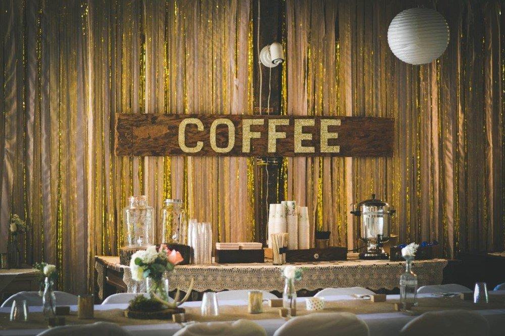 """COFFEE"" SIGN          QUANTITY:1 RENT:$20"