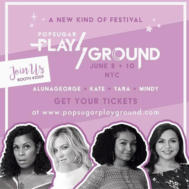 Are you in New York? Join us at @popsugar  event #POPSUGARPLAYGROUND and have fun while you shop! 💜
