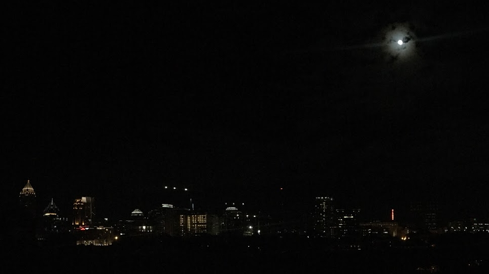 Midtown Atlanta by night, taken by self.