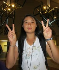Being stereotypically Asian during a summer program in 2013 at Valdosta State University.