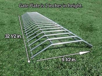 Install under gates.