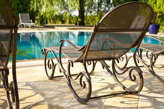 Pool furniture should be uncovered, cleaned, and repaired if necessary.