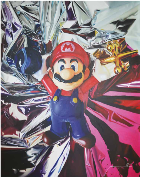 Super Mario. Oleo sobre tela | Serie Game Over | 1.80 x 1.35 cms.