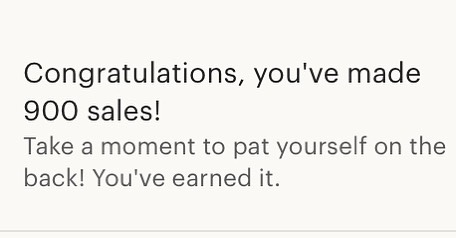 Just popped on to Etsy and saw this notification! Best part of my Monday! None of this would be possible without all of you! . . #etsy #900sales #woodworking #woodsigns #laserengraving #personalizedgifts #madeinNH #NHmade #shopsmall #smallbusiness
