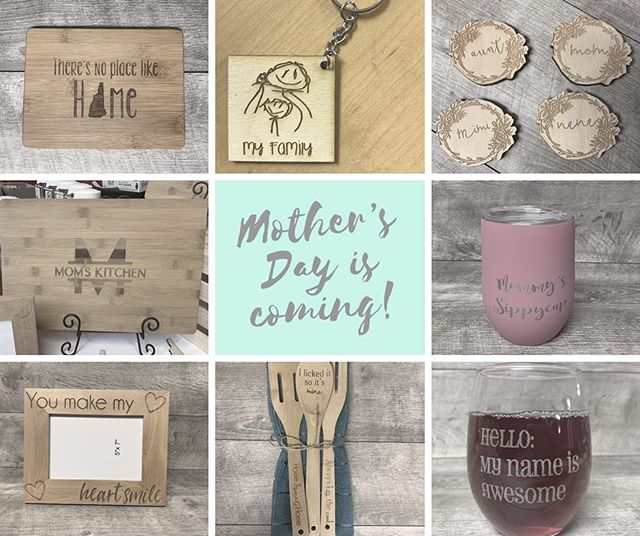 Mother's Day is coming! Have you found the perfect gift yet? . . . #mothersday #giftsformom #giftsforgrandma #customgifts #madeinNH #NHmade #shopsmall #shoplocal #whatshewants #mothersdaygifts