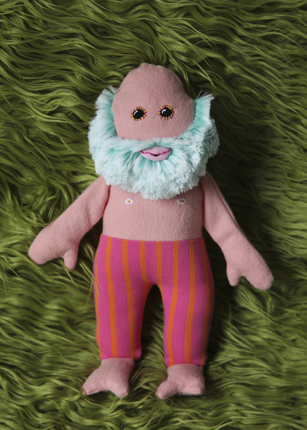I DEFINITELY AM ATTRACTED TO THINGS THAT ARE BORDERLINE CUTE AND BORDERLINE CREEPY - Old Man Baby Doll. Mixed media, 2017.