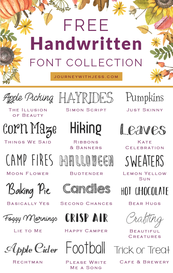 This is my third post in my font collection series