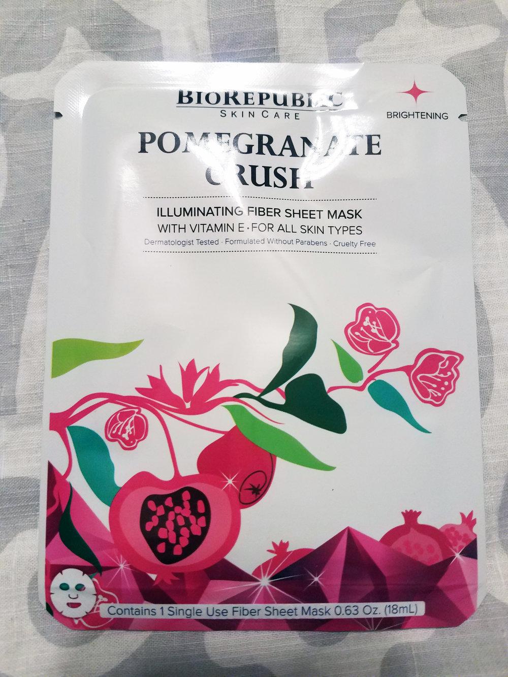 BioRepublic SkinCare Sheet Mask Duo - Pomegranate Crush