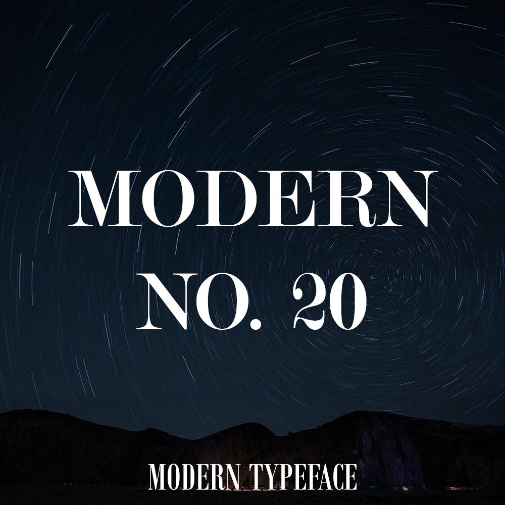 modern20-font