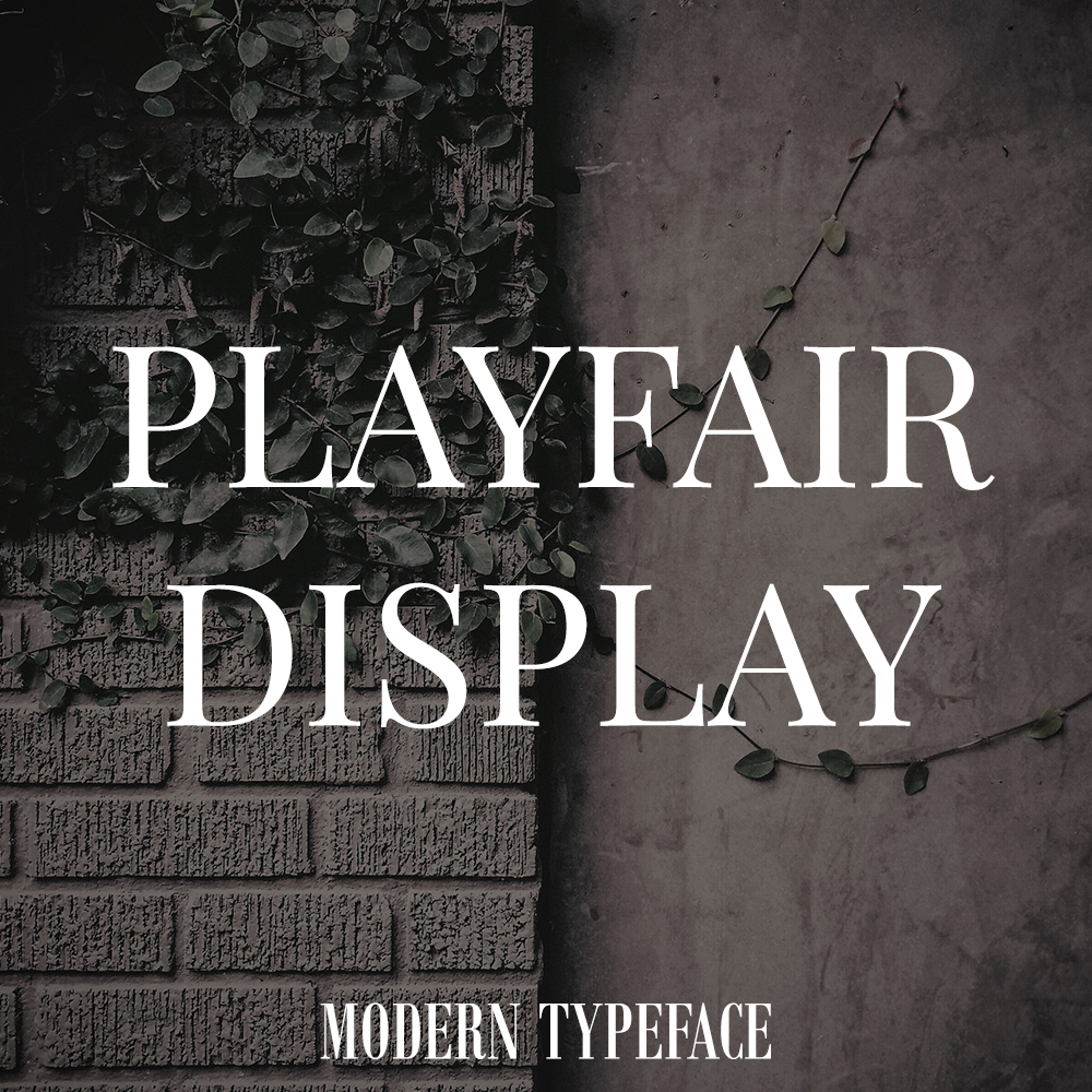 playfair-font