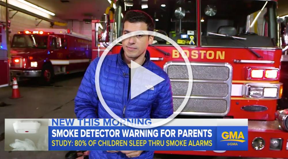 "ABC News - Good Morning America ""March 15, 2017 – Can children sleep through a smoke detector alarm?"""