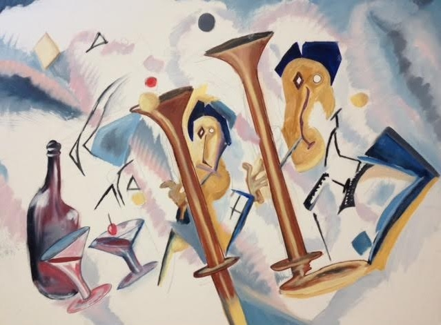 Basoons a'gogo - Oil on Canvas by Greg La Traille. 2013.