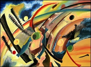 Hommage a Kandinsky - Oil on Canvas by Greg La Traille. 1995.