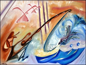 Oils on Canvas - Art deco sensibilities mesh music, mathematics, and movement.