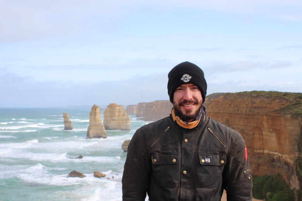 A cold and windy ride greeted us on the Great Ocean Road.