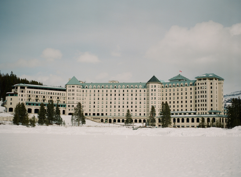 Wedding Photographer Canada Film Photography Chateau Lake Louise in Canada. Shot on a Contax 645 with Fuji 400 Film