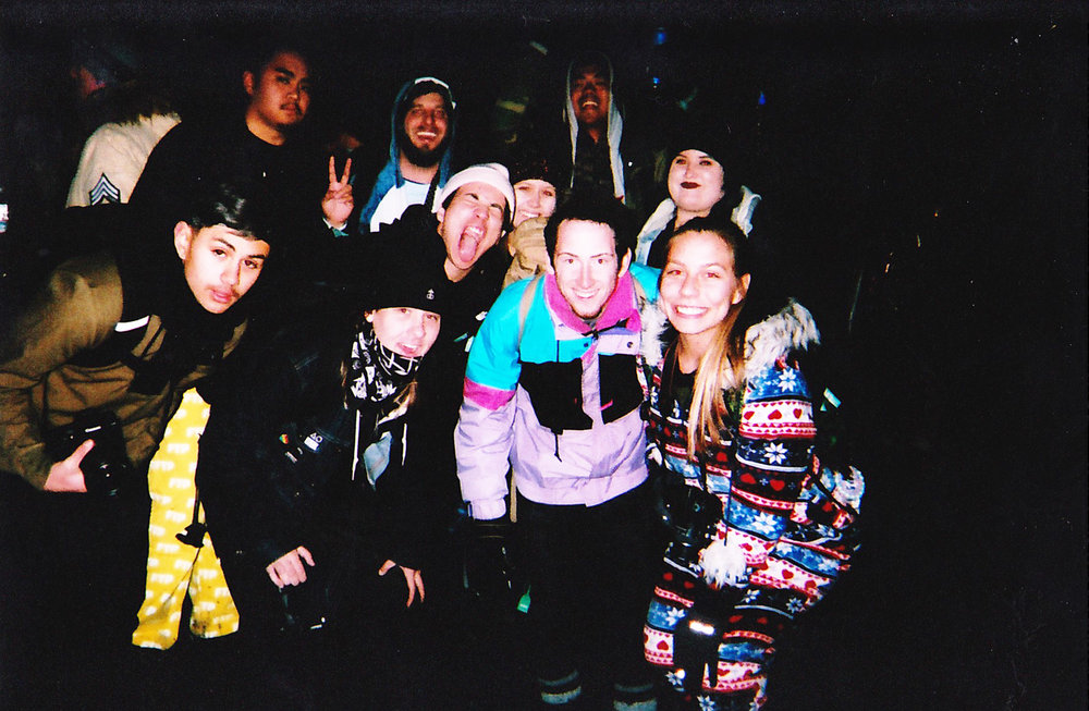 Some of the SnowGlobe photo team on a disposable camera