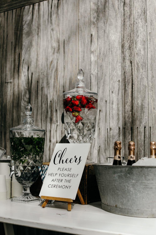 Wedding Drinks Station