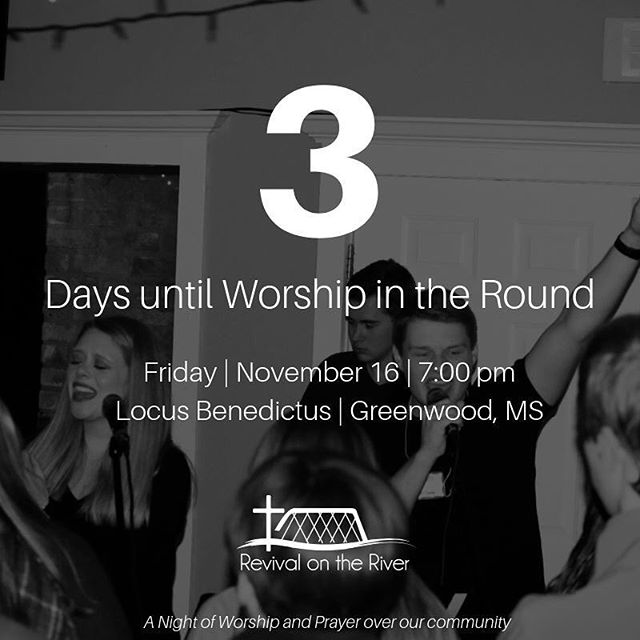 || 3 DAYS AWAY || Worship in the Round is only THREE days away and we couldn't be more excited! How are you hoping the Lord speaks to you this Friday?? Invite some friends!! 🙌🏻 • • • • • • #worshipintheround #rotr2019 #rotr #worship #christianmusic #worshipmusic #liveworship