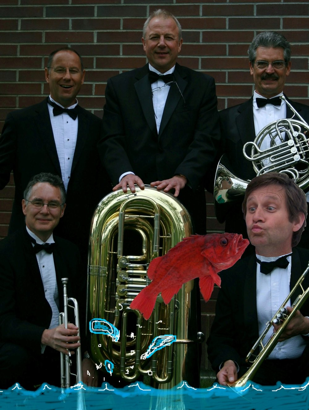 Fish on Five brass quintet