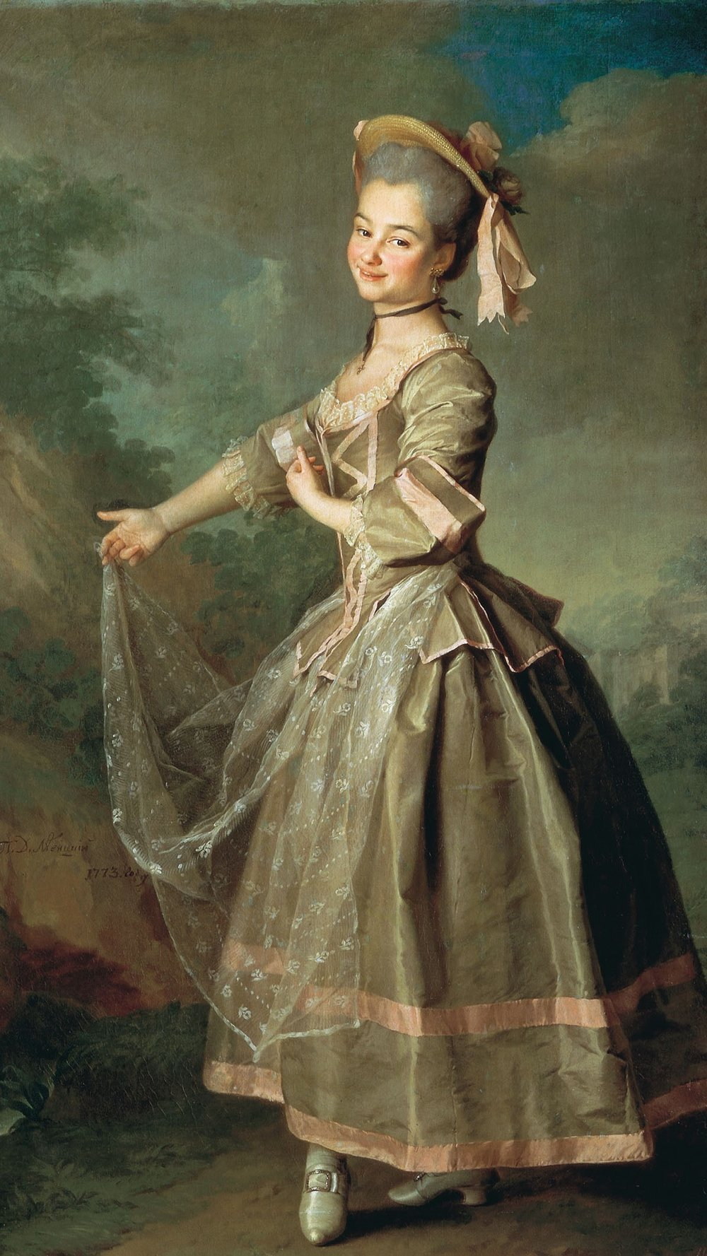 Catherine Nelidova as Serpina (by  Dmitry Levitzky , 1773)
