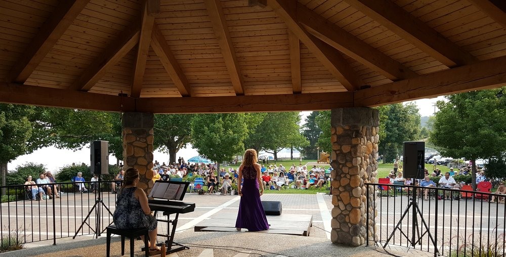 Mezzo-soprano Barbara King performs at the Opera in the Park,Guisachan Park, KELOWNA , on Aug 3rd, 2017