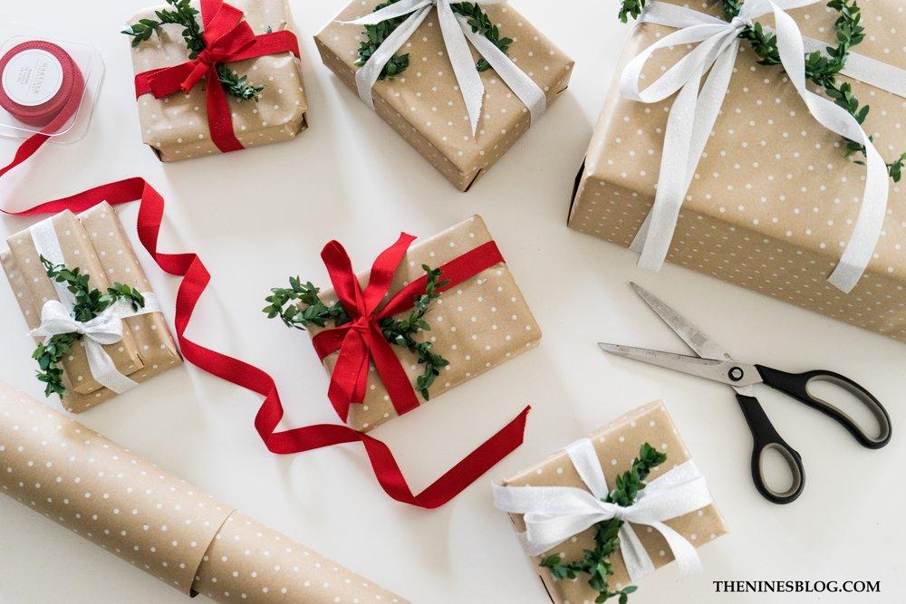 Easy Gift Wrap - TheNinesBlog.com : A Boston Blog