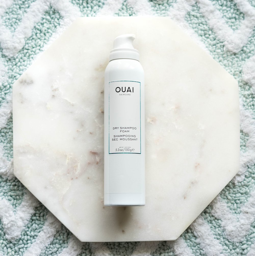 Ouai Dry Shampoo Foam - I was hesitant to try this version as I thought the wet foam would deflate any volume that I worked so hard to achieve. I was so wrong!  Oddly enough, this dry shampoo is great for extra volume.  It takes a little extra effort, but you have to work the foam in until it dries most of the way to revive your hair's. A quick blast with a blow dryer does the trick. The effects lasts about 12 hours. Ouai also has a strong scent that noticeable it throughout the day.  Find Ouai's dry shampoo foam at Bloomingdales or Sephora for $28 (5.3oz).