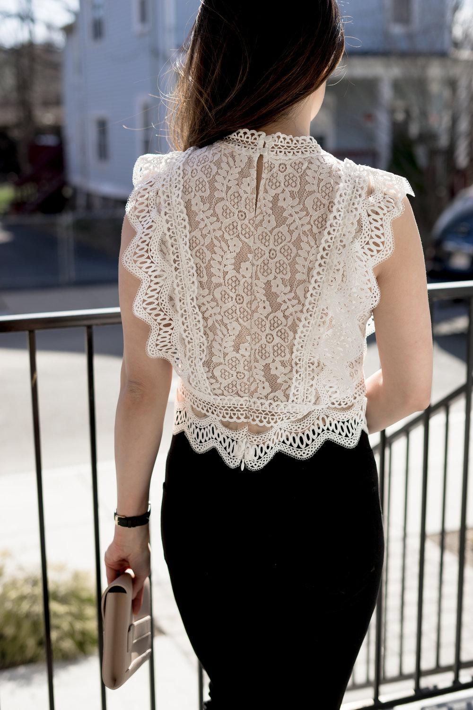 Spring Lace Crop Top by Lucy Paris:TheNinesBlog.com - A Boston Blog