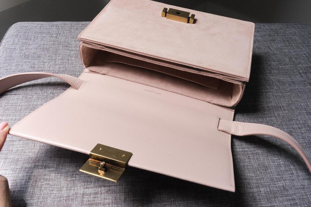 YSL Bellechase Shoulder Bag Review in Blush: TheNinesBlog.com - A Boston Blog